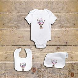 Baby Onesie Tribal Deer Gift Set Baby Shower