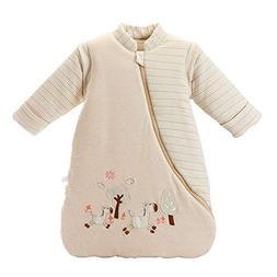 OuYun Baby Organic Sleeping Bag Detachable Sleeve Wearable B