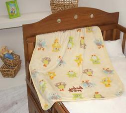 Baby Mink Owl Nursery Crib Lightweight Soft Fleece Swaddle B