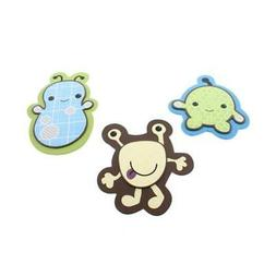 CoCaLo Baby Peek-A-Boo Monsters Wooden Baby Boy Wall Decor S