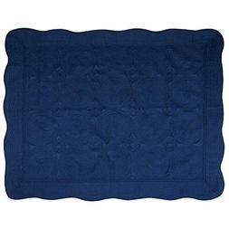 USTIDE Baby Quilt Monogram Lightweight Blanket Embossed Cott