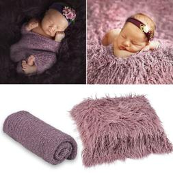 Newborn Baby Photo Props Backdrop Photography Soft Fur Quilt