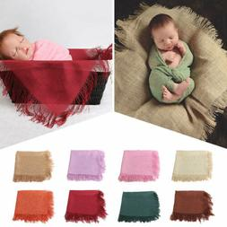 Baby Photography Props Tassels Blanket Wrap Newborn Cotton L