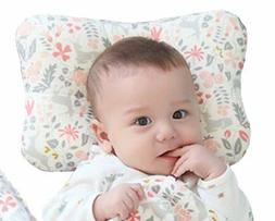 Baby Pillow For Newborn Head Shaping Breathable Organic Cott