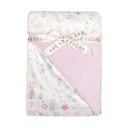 Chick Pea Baby Pink Birds Soft Mink Printed Blanket with She