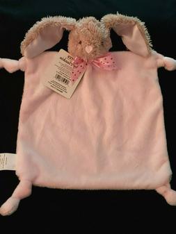 Dan Dee Baby Pink Bunny Security Blanket Knotted Corners Rat