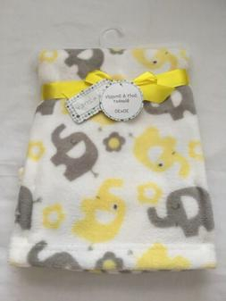 Baby Plush Blanket, Shower Gift, Soft Blankie 30x30 Yellow,