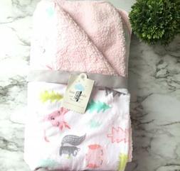 Cloud Island Baby Plush Velboa Blanket 30 X 40 Forest Frolic