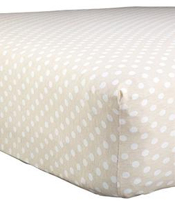 Abstract Baby Polka Dot Print Extra Deep Fitted Jersey Crib