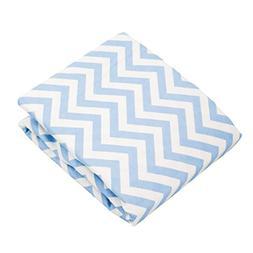 Kushies Baby Portable Play Pen Sheet, Blue Chevron
