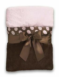 Bearington Baby Posh Dots Crib Blanket