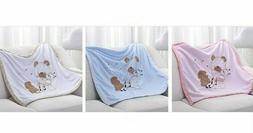 Baby Quilt Cartoon Pattern Swaddling Wrap Warm Bedding Linen