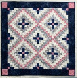 Baby Quilt Handmade Multicolor Patchwork Blanket New