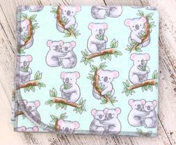 """Baby Receiving Blanket """"Koala Babies"""" Flannel, 34x39, Baby S"""