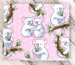 """Baby Receiving Blanket """"Koala Love"""" Flannel, 34x39, Baby Sho"""