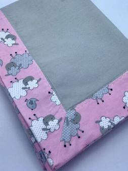 Baby Receiving Blanket, Swaddle Blanket - Sweet Pink Baby Sh