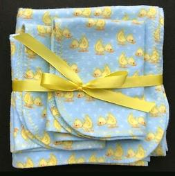 HANDMADE! Baby Receiving Blanket with 2 Burp Cloths Shower G