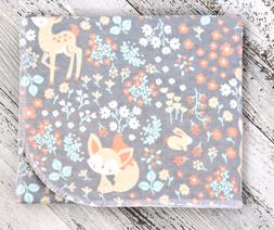 "Baby Receiving Blanket ""Woodland Babies"" Flannel, 34x39, Bab"