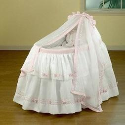 """BabyDoll Baby Regal Liner/Skirt & Hood with Pink Trim, 15"""" x"""