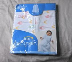 Halo Baby's Sleep Sack Wearable Blanket CD4 White Newborn-6