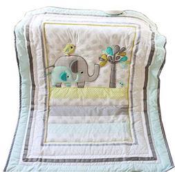 Baby Elephant Crib Bedding Quilt