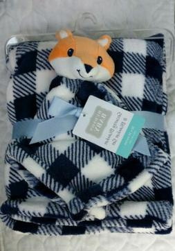 HUDSON BABY Baby Security Blanket Set Fox Plaid Checker Boys