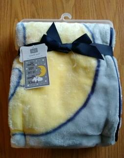 HUDSON BABY Plush Baby Blanket Love You To Moon and Back Lov