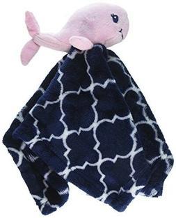 Baby Security Blanket Whale Stuffed Animal Plush Girl Nautic