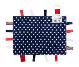 Baby Sensory, Security & Teething Ribbon Tag Lovey Blanket 1