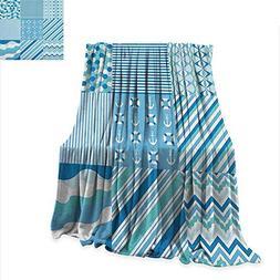 Baby Shower Nautical Dots Stripes Lightweight Blanket Zig Za