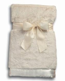 Bearington Baby Large Creamy White Silky Soft Crib Blanket,