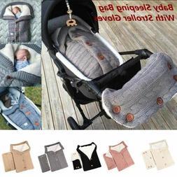Baby Sleeping Bag  Knit Velvet Warm Swaddle Wrap Comfy Blank