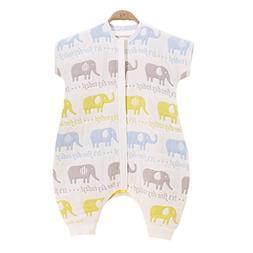 Chilsuessy Baby Sleeping Bag Summer Kids Sleepwear Short Sle