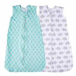 Jomolly Baby Sleeping Sack 2 Pack Wearable Blanket Mint/Elep