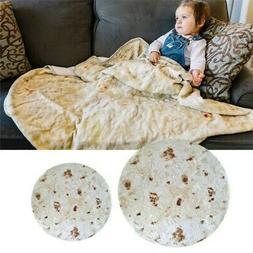 Baby Soft Burrito Blanket Throw Tortilla Texture Fleece Thro
