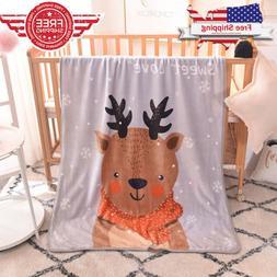 Baby Soft Fleece Blanket Fahion Children Sofa Plush Velvet T