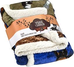 "Baby Soft Poly fleece Sherpa Blanket 30"" X 42"""