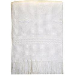BabyPrem Baby Large Soft White Acrylic Stars Shawl Blanket 4