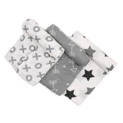 "Boritar Baby Swaddle Blanket 100% Cotton 47x47"" Muslin Sleep"
