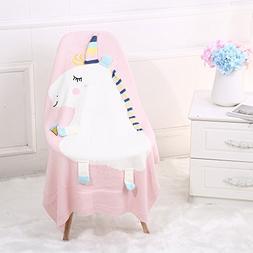 Baby Swaddle Blanket, Oenbopo Soft Warm Unicorn Crochet Knit