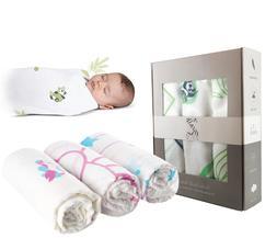 ZULU Muslin Swaddle Blanket, Bamboo / cotton, Baby Receiving