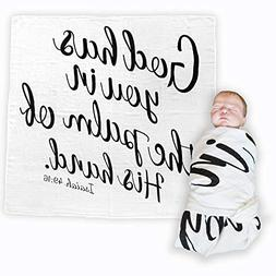 Bless Our Littles Baby Swaddle Scripture Blanket with Bible