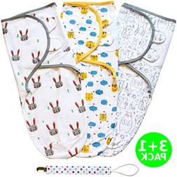 Baby Swaddle Wrap, Swaddle Blanket Set for Newborn or Infant