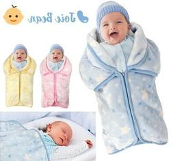 Baby Swaddle Wrap Baby Sleeping Bag Sack Infant Fleece Blank