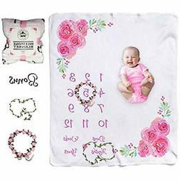 Baby Swaddling Blankets Milestone Girl Large For Girls Month