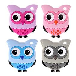 Susada Baby Teething Chew Toy Safety Food Grade Silicone Owl