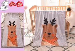 Baby Throw Flannel Blanket Cartoon Plush Velvet Children's S