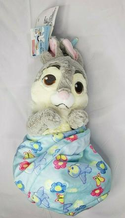 "Baby Thumper Rabbit Plush with Blanket Pouch 10"" Babies Disn"