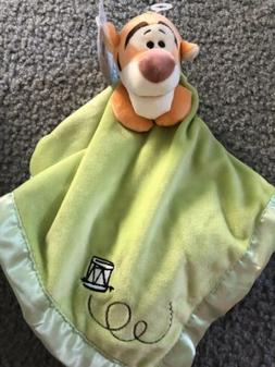 Disney Baby Tigger Orange Green Satin Security Blanket Lovey