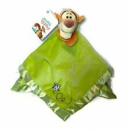Disney Baby TIGGER Winnie The Pooh Green Satin Security Blan